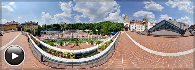 Gellért Gyógyfürdő, Kilátás a teraszról, Budapest